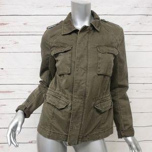 Michael Stars Utility Jacket Olive Cotton